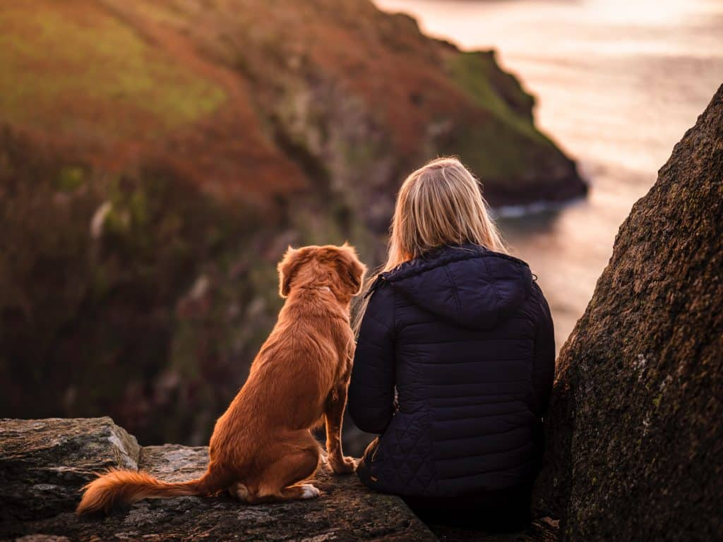 woman and dog share strong emotional connection